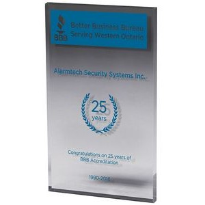 "Clear Rectangular Acrylic Paper Weight (4""x 6""x 3/8"") Screen Printed"
