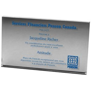 "Clear Rectangular Acrylic Paper Weight (3""x 5""x 3/8"") Screen-printed"