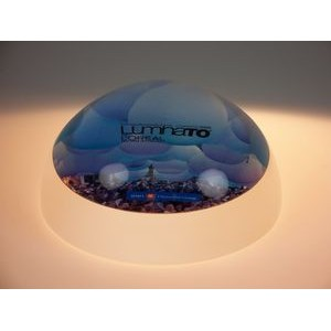 "3¼"" Regular Dome Acrylic Award/Paper Weight"